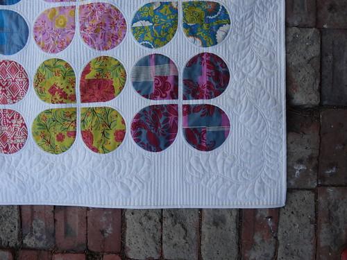 Quilting Closeup - Retro Flowers