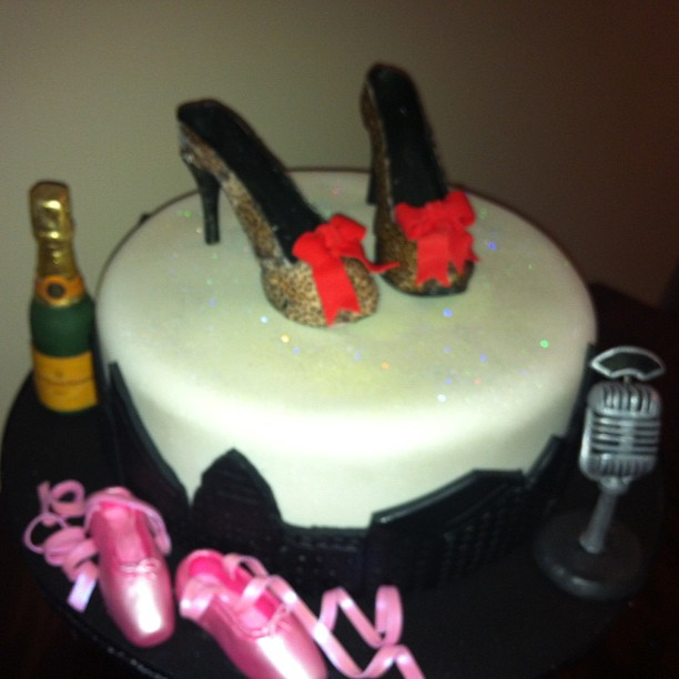 Birthday Cake Newyorkcity Champagne Microphone Stillettos Highheels Leopardprint Balletslippers