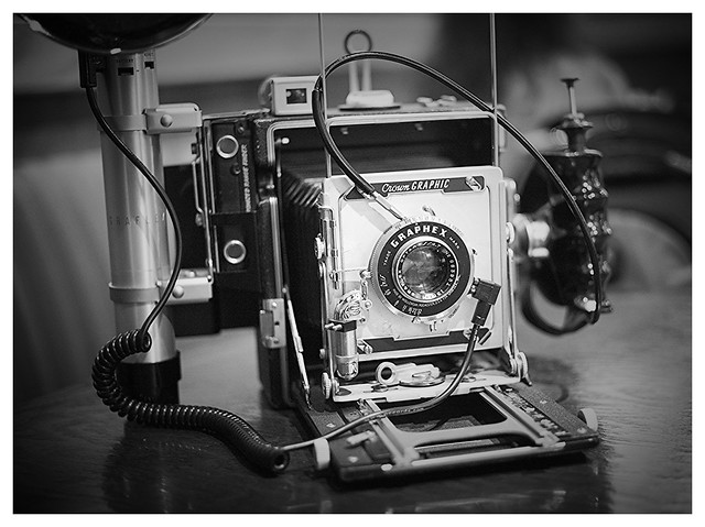 My graflex press camera (Crown Graphic 4x5)
