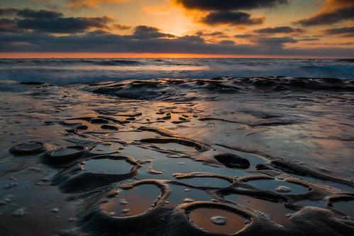 lajolla sandiego sunset potholes reflection canon 70d