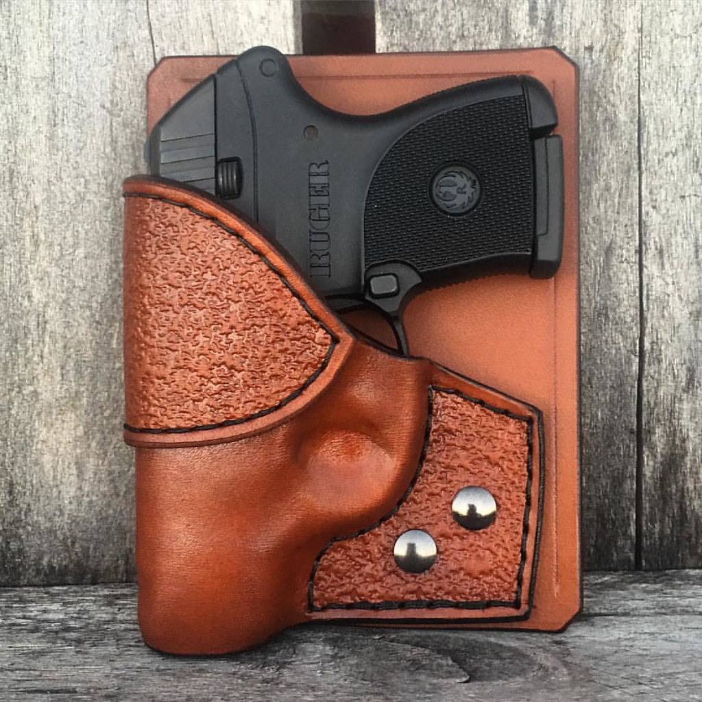 Combo Pocket Holster for #Ruger #LCP in Light Brown Lined