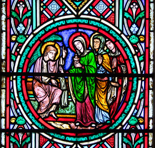 Three Marys meet the angel at the empty tomb (Didron of Paris, 1863) | by Simon_K