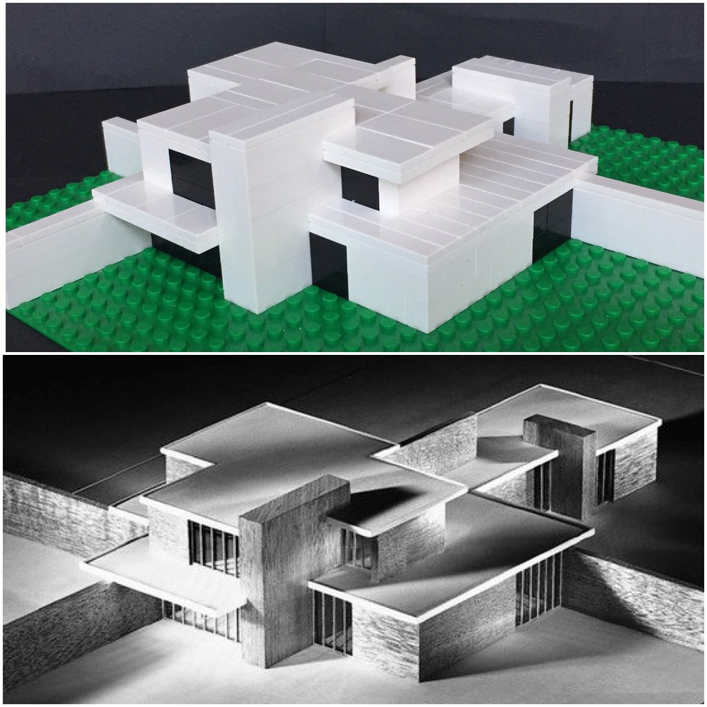 Brick Country House by Mies van der Rohe | My Lego version o… | Flickr