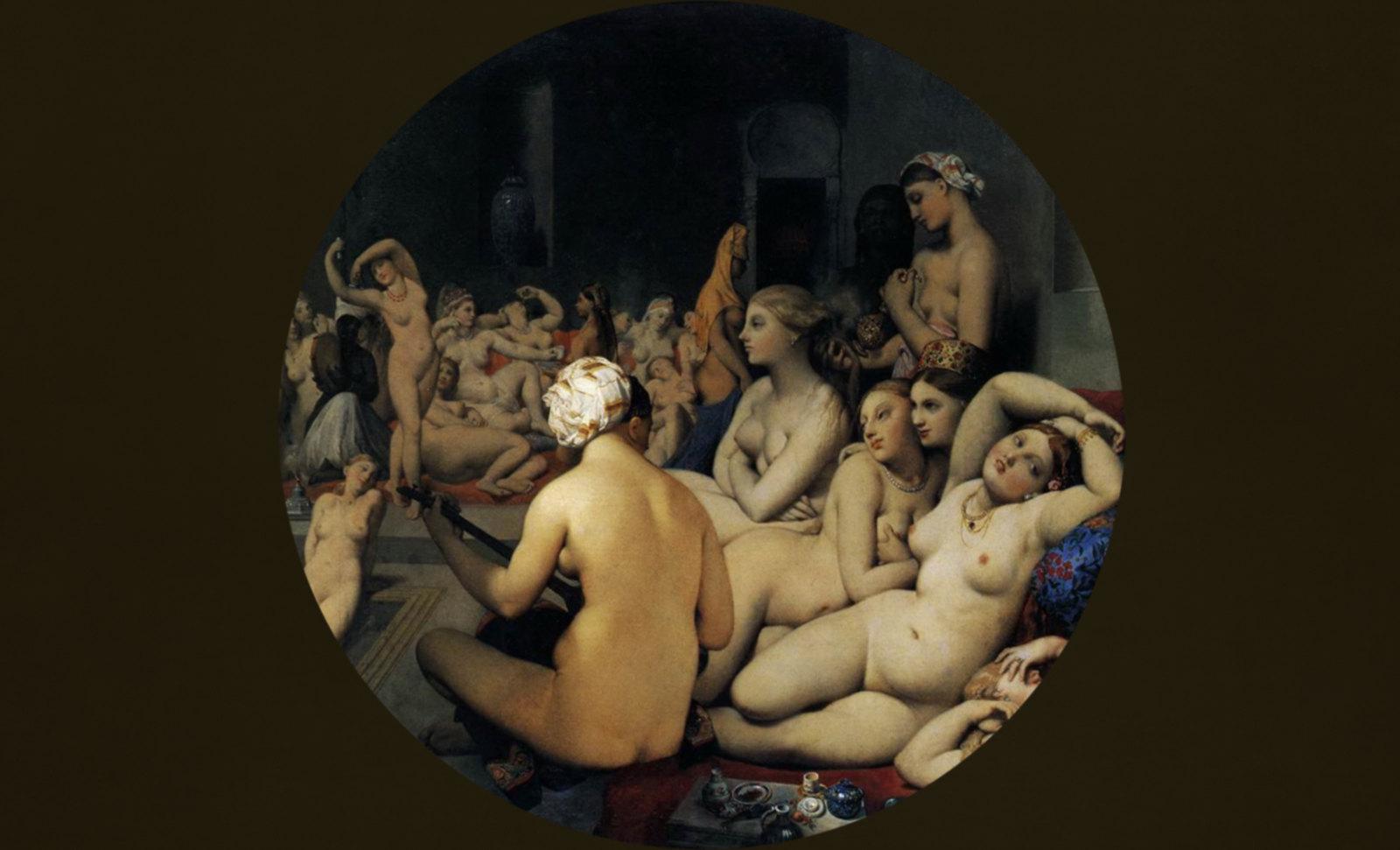 Harém, composición de Jean Auguste Ingres (1862), recreación de Pablo Picasso (1968).