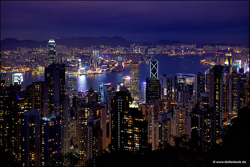 skyline china hongkong hongkongisland peak hongkongpeak bluehour blauestunde