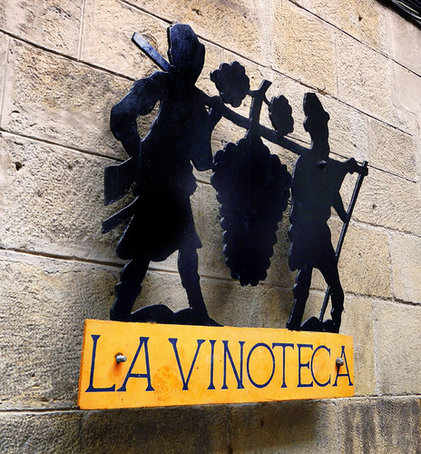 Vinoteca Sign in Laguardia, Spain