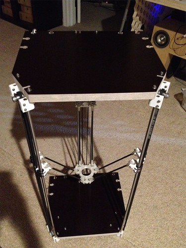 """My Rostock with new 3/4"""" top and bottom 