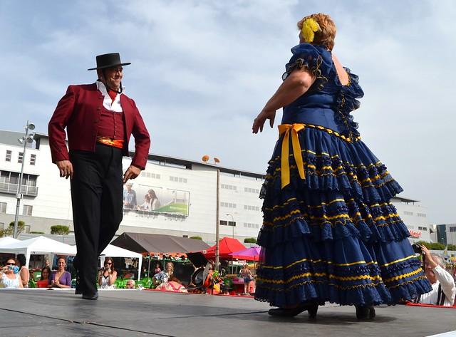 José Luis y Magdalena Pasrela Andaluza VI Feria abril 2013 Las Palmas de Gran Canaria
