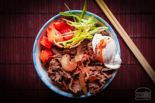 Homemade Gyudon (Beef and Rice Bowl)