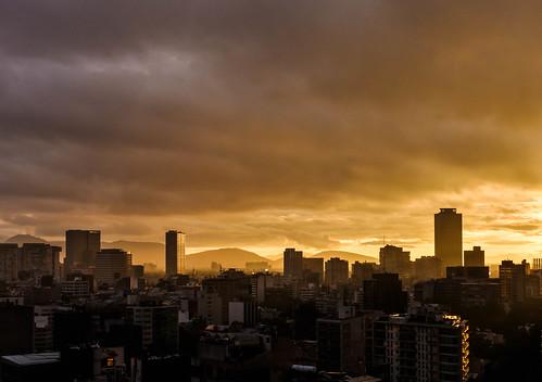 amanecer sunrise skyline mexico luz light
