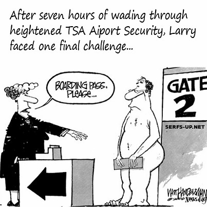 "TSA Challenge - ""Boarding Pass, please."" 
