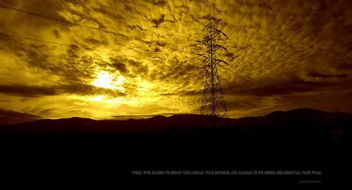 galatians sony a77 power hightensioncables j316 jesus redemption repentance sin cross nail sunset sunrise shine sun bright electrifying tnb malaysia ktmb trainwindowview ets