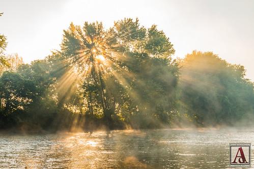 sunrise fog river zoar ohio tuscarawas