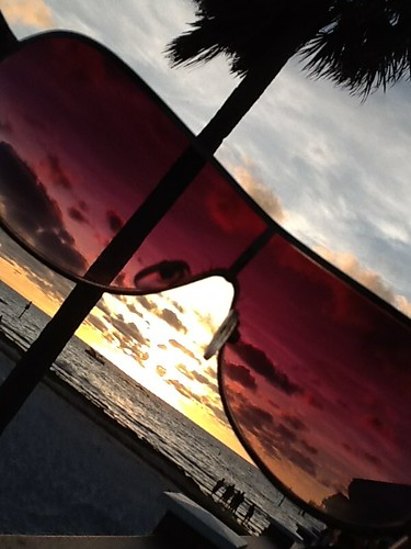 photograph art artistic view sunset clearwater beach florida sunshine state shades palm tree ocean water clouds sky afternoon vision perspective october fun