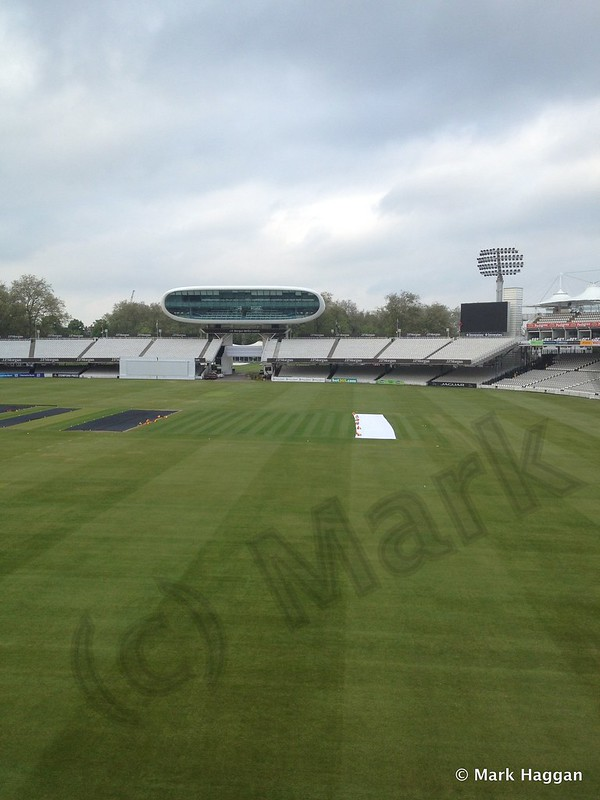 The view from the Home Dressing Room at Lord's