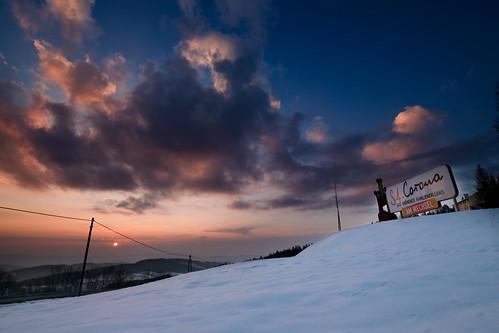 landscape feistritztal stcorona orthof sunset