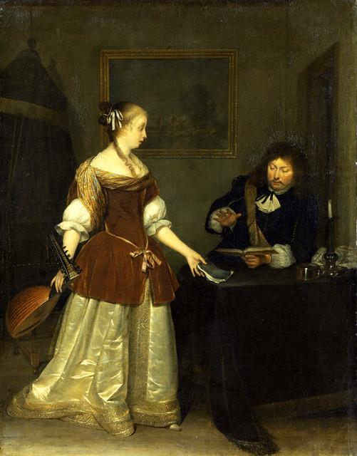 Gerard Ter Borch, Junge Frau und Offizier beim Musizieren - Young woman and an officer making music