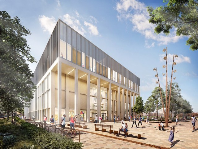 Images of the new Britannia Leisure Centre, school and first-phase housing