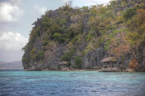 straqnd hütten cabins einsam coron philippinen