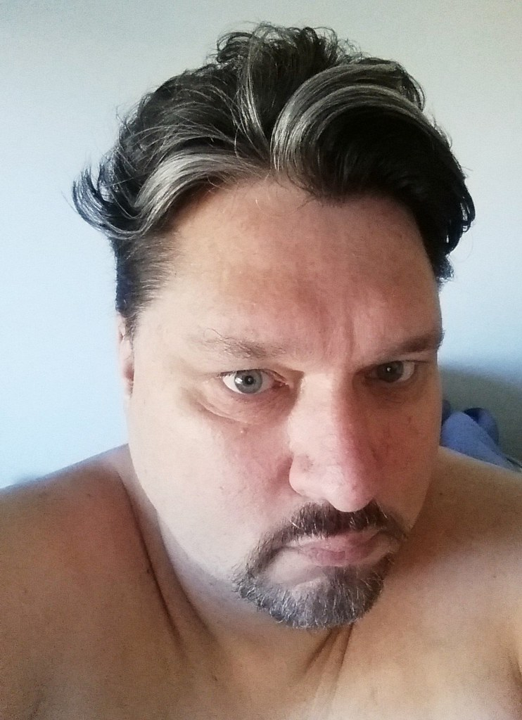 The Head And Bare Shoulders Of A White Man With Dark Brown Flickr