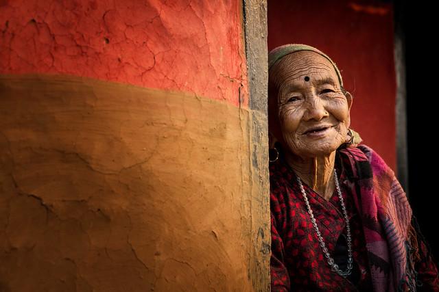 Old woman in Ramkot, near Bandipur