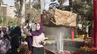 A selfie with an illusion at Egypt's Spring Flowers Fair 2018 | by Kodak Agfa