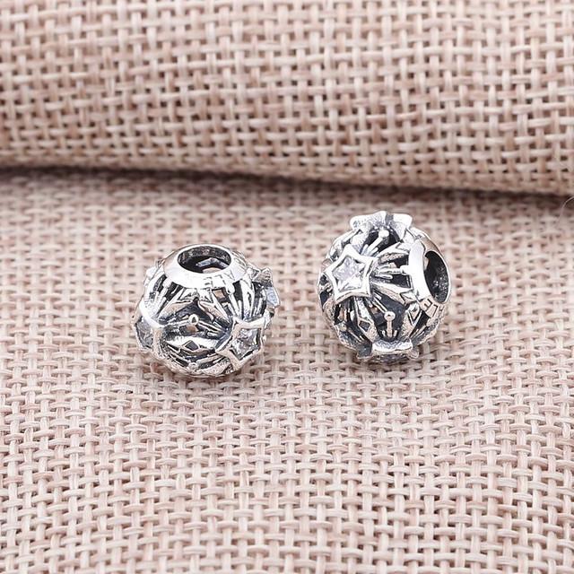 Disney Frozen Snowflake Openwork Silver Charm With Cubic Charm Pandora_02