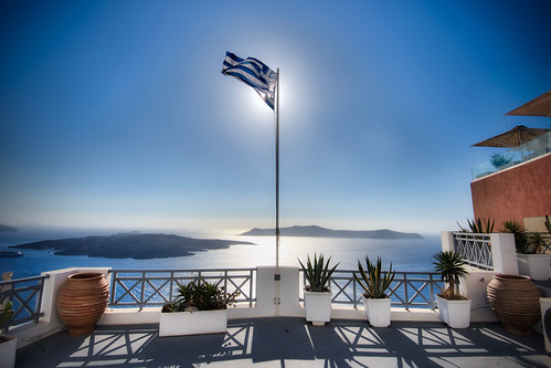View of Caldera from Fira | by spinfly