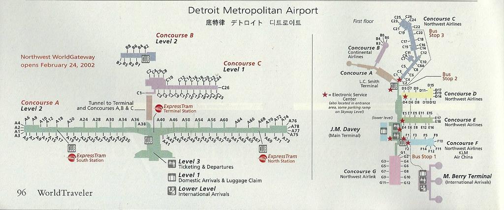 Detroit Terminal Map on