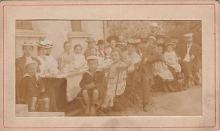 Garden tea party, Zehlendorf by K. Peters (July, 1903)