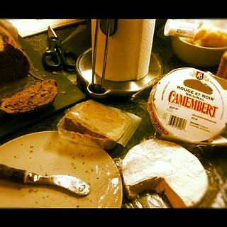 My version of a balanced dinner: Pâté, Camembert and a baguette | by aliaKJ