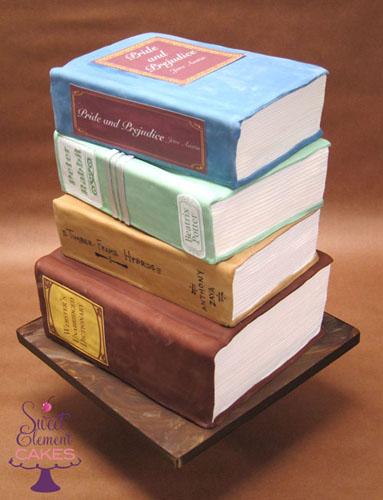 Strange Stack Of Books Birthday Cake Sweetelement Com Jen Roberts Personalised Birthday Cards Xaembasilily Jamesorg
