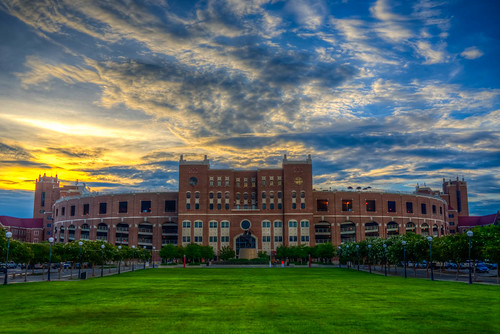 travel sunset summer sky color grass clouds 35mm campus photography football nikon colorful university day state florida cloudy stadium fsu tallahassee nikkor hdr highdynamicrange 2012 doak d800 ƒ20 chrisacuña