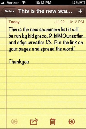 Scamming Liste
