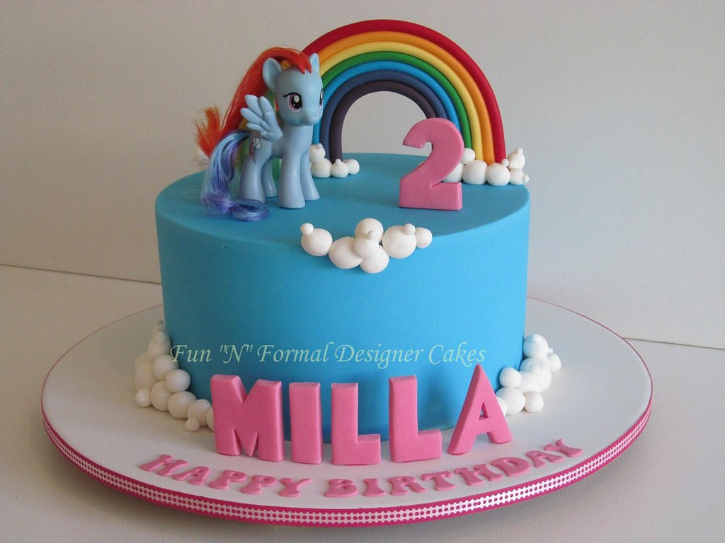 Astonishing My Little Pony Birthday Cake Based On A Design By Mycakes Flickr Personalised Birthday Cards Arneslily Jamesorg