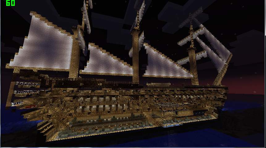Victory Cross Section ~ Simkraf's Minecraft Nelson's Ship