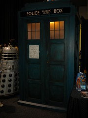 The Police Box and a Dalek from Doctor Who