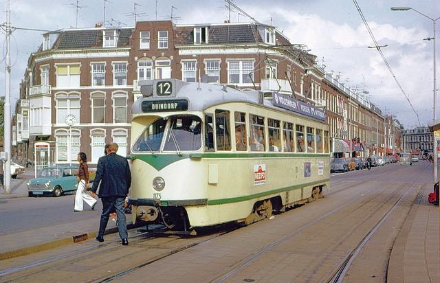 HTM (Den Haag) PCC car 1175 at Paul Kruger Plein in 1974