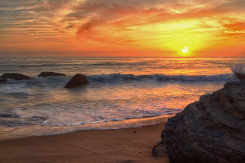 california sunset red color water yellow canon rocks explore hdr paulrichardphotography