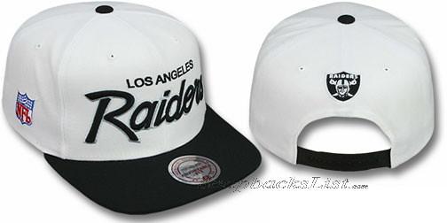 1bcf5808 ... Mitchell & Ness NFL - Oakland Raiders Snapback White Hats Caps 2T  TEAM-SCRIPT