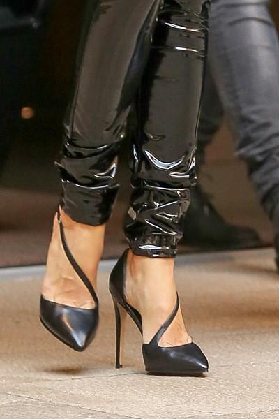 Gisele Bündchen in vinyl pants