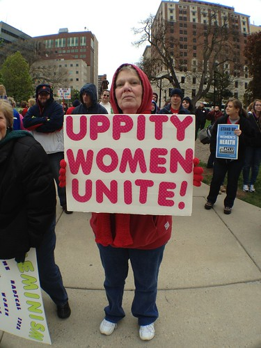 Rally Against the War on Women, Lansing, MI April 28, 2012 | by Peace Education Center