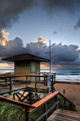ocean sunset usa 3 tower beach glass weather clouds canon scott eos james high dynamic florida mark united iii lifeguard atlantic pro l 5d fl states usm dslr range ef f4 hdr 41 photomatix 24105mm worldhdr