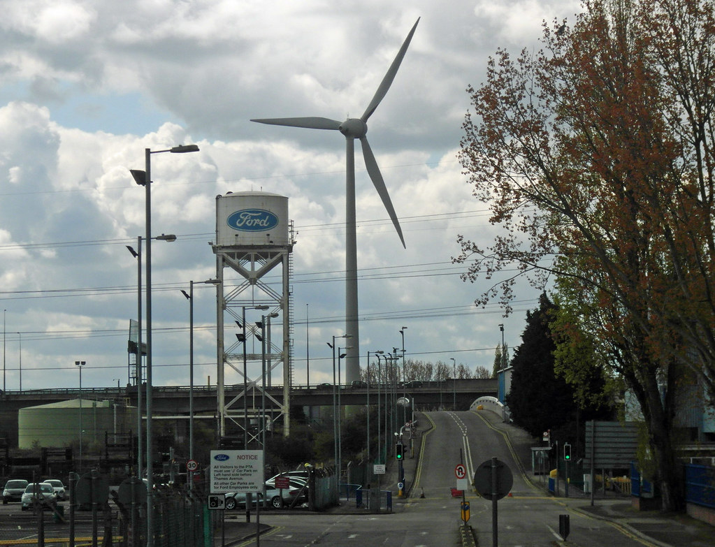 Ford Dagenham London S First Wind Farm At A Factory Which Flickr