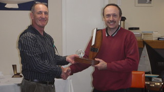 Jeff Coffin receiving Club Champ trophy for 1st place | by PLSC (Panmure Lagoon Sailing Club)