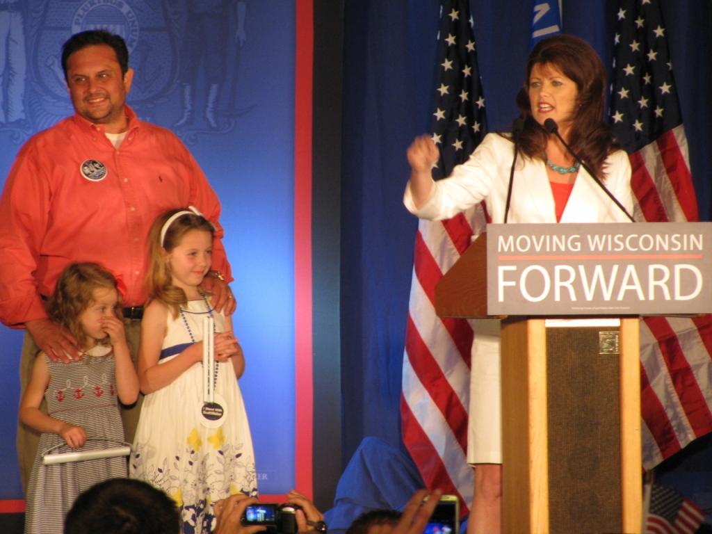 Lt. Gov. Rebecca Kleefisch gives a victory speech after… | Flickr