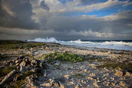 ocean sea water clouds landscape coast creativecommons caribbean bonaire netherlandsantilles yabbadabbadoo