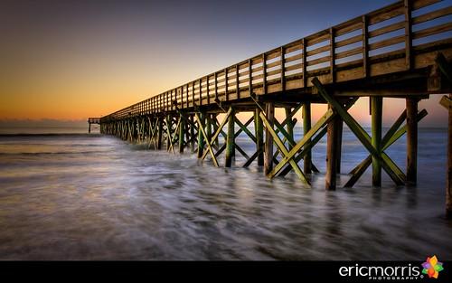beach sunrise pier southcarolina charleston isleofpalms