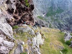 Campu di Vetta : le site de bivouac à l'extrémité Sud de la vire