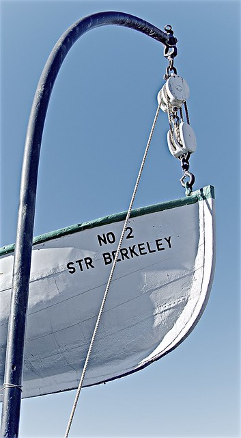 Davit with Block and Tackle and Lifeboat No 2 ...
